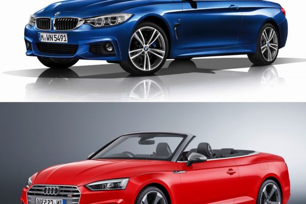 bmw s rie 4 vs audi s5 cabriolet le comparatif. Black Bedroom Furniture Sets. Home Design Ideas